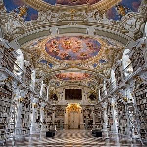 Stiftsbibliothek Admont knihovna, Rakousko