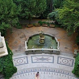 Grébovka, fontána shora