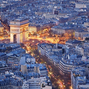 Prestižní čtvrť Triangle D'Or v Paříži.