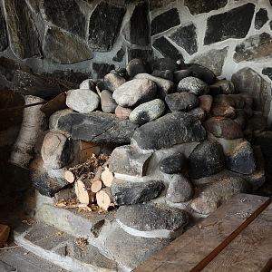 Interiér kouřové sauny v Utsjoki , Finsko
