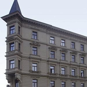 Obytný dům, Malostranské nábřeží č. 3, z Kampy