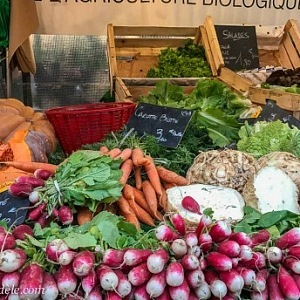 Fresh vegetable in the Bastille market