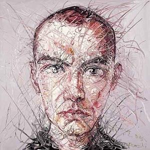 Young Portrait, 2005, 100x100cm