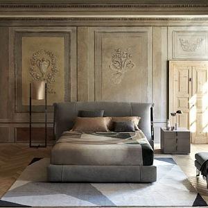 Carlo Colombo navrhl Amal bed a lampu pro Flou