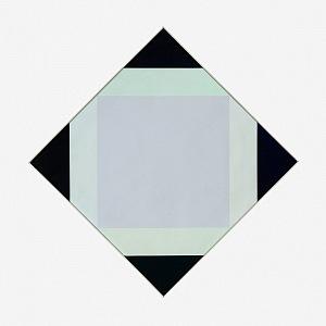 Max Bill, Světlé jádro, 1972/1973, olej, plátno, 62 × 62 cm