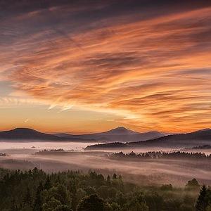 Krásné panorama Českého Švýcarska