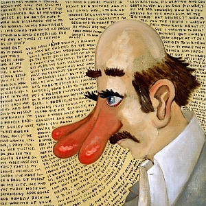 Sean Landers, Three Nose Guy, 1998