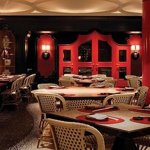 Wynn Las Vegas Restaurant in red