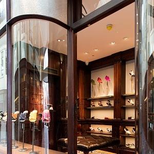 Luxusní butik Manolo Blahnik v Londýně