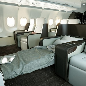 New airplane - luxusrious interior