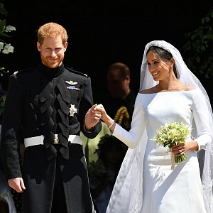 Princ Harry is married with Meghan Markle