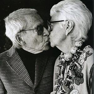 Iris a manželem.