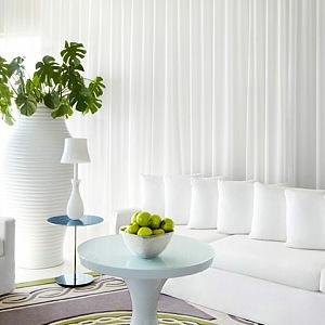 Hotel Delano, luxusní bíly interiér