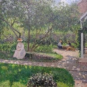 Camille Pissarro, Zahradní koutek v Éragny (Malířův domov), 1897