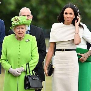Meghan s královnou Alžbětou II.