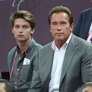 Arnold with his son Patrick