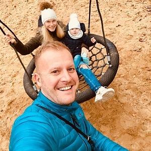Marek Raditsch s rodinou