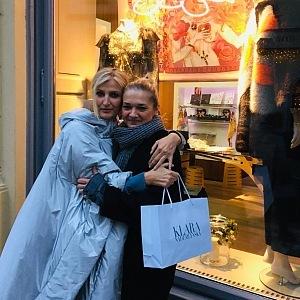 Klára Nademlýnská s kamarádkou Terezou Maxovou