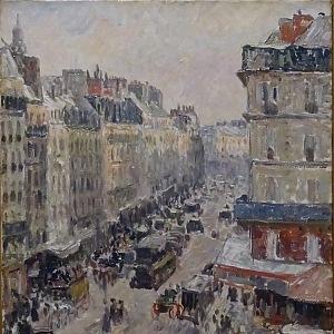 Camille Pissarro, Ulice Saint-Lazare v Paříži, 1897