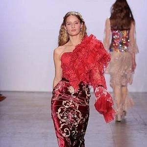 Linda Vojtová, New York fashion show
