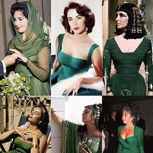 Liz milovala zelenou barvu