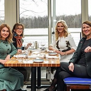 Monika Babišová na obědě s lékařkou Janou Švehlovou