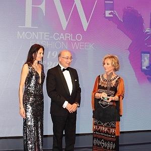 Alberta Ferretti with award of princess Charlene