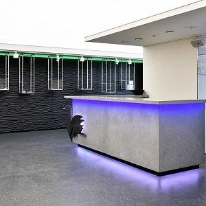The bar made of concrete