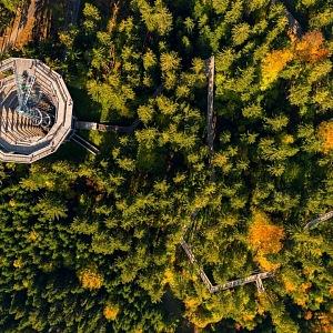 Stezka v korunách stromů Krkonoše