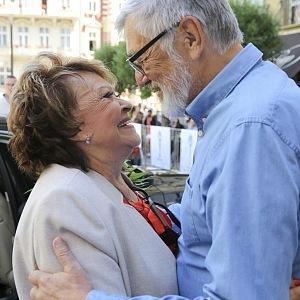 Prezident festiavalu Jiří Bartoška s Jiřinou Bohdalovou