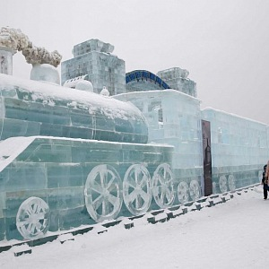 Train made of ice