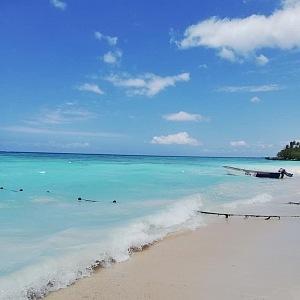 Karibská pláž v Bayahibe