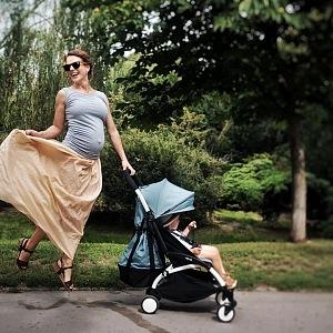 Budoucí maminka dvou dětí.