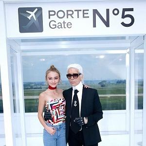 Karl Lagerfeld a Lily-Rose Depp