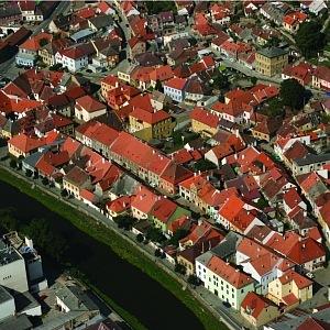 Pohled na město Třebíč