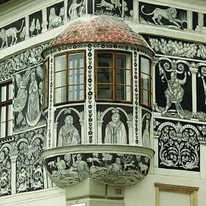 Malovaný (Františkovský) dům z konce 16. století zdobí třebíčské náměstí
