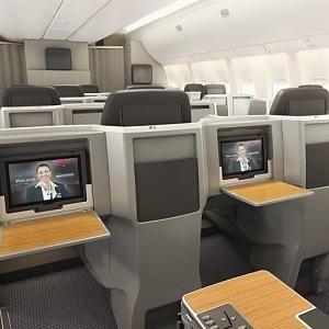 Luxusní interiér boeingu 767-300