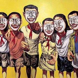 Mask Series No.6, 1996, 200x360cm