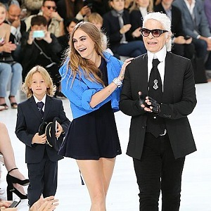 Karl Lagerfeld a Cara Delevingne