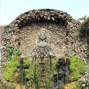 Zahrada v Tivoli v detailu