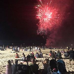 Silvestr v Austrálii na pláži
