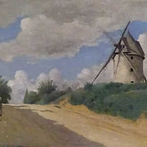 Jean-Baptiste Camille Corot, Větrný mlýn, 1835–1840