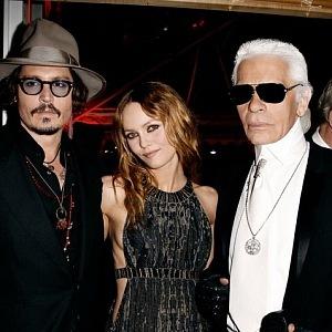 Karl Lagerfeld, Johny Depp, Vanessa Paradis