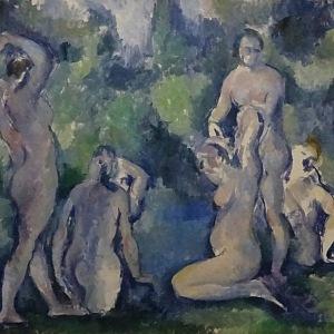 Paul Cézanne, Koupající se ženy, kolem 1895