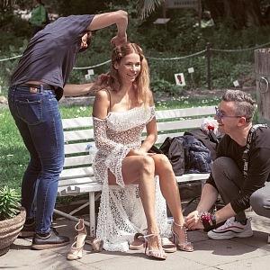 Preparations for a photo shoot - Andrea Verešová