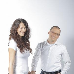 Ekonomka Markéta Šichtařová s manželem Vladimírem Pikorou