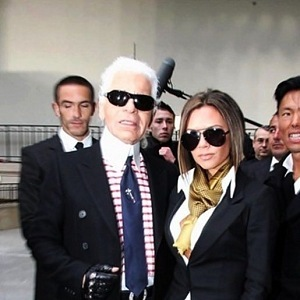 Karl Lagerfeld a Victoria Beckahm