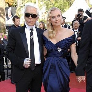 Karl Lagerfeld a Diane Kruger