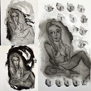 Lucie maluji i akty.