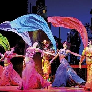 Beautiful colours in musical Aladdin